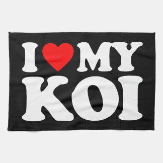 I LOVE MY KOI KITCHEN TOWEL