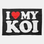 I LOVE MY KOI KITCHEN TOWELS