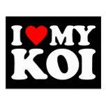 I LOVE MY KOI POSTCARD