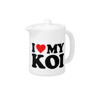 I LOVE MY KOI TEAPOT