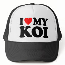I LOVE MY KOI TRUCKER HAT