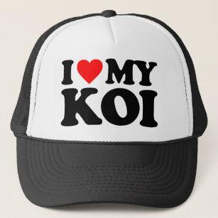 6a850f064a7f2 I LOVE MY KOI TRUCKER HAT