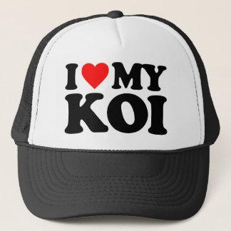 I LOVE MY KOI TRUCKER HAT
