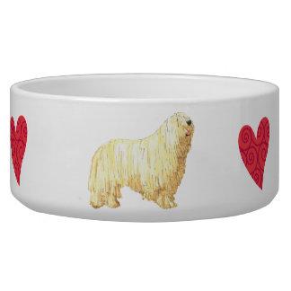 I Love my Komondor Bowl