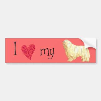 I Love my Komondor Car Bumper Sticker