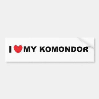 i love my komondor bumper sticker