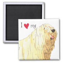 I Love my Komondor Magnet