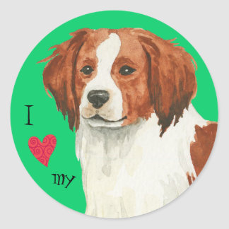 I Love my Kooikerhondje Classic Round Sticker