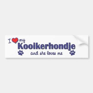 I Love My Kooikerhondje (Female Dog) Car Bumper Sticker