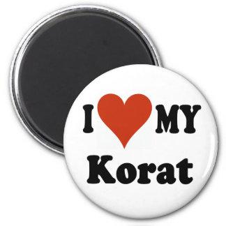 I Love My Korat Cat Merchandise 2 Inch Round Magnet