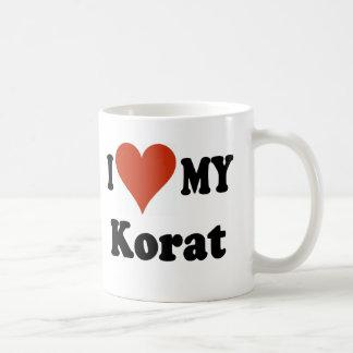 I Love My Korat Cat Merchandise Classic White Coffee Mug