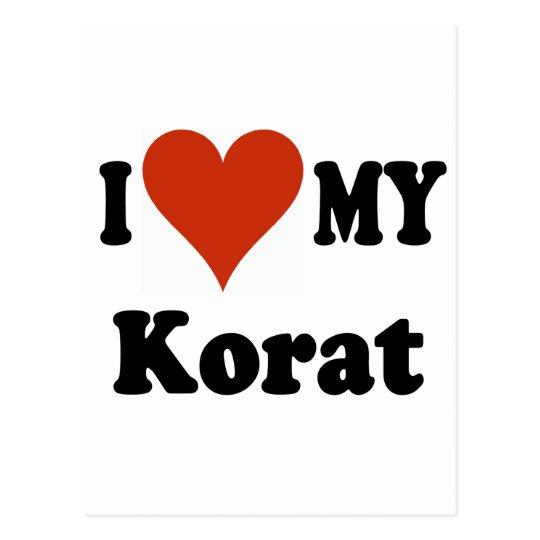 I Love My Korat Cat Merchandise Postcard