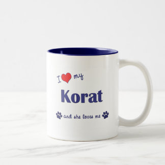 I Love My Korat (Female Cat) Two-Tone Coffee Mug