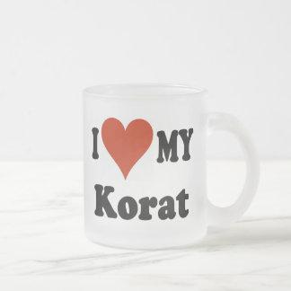 I Love My Korat Frosted Mug Frosted Glass Mug