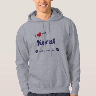 I Love My Korat (Male Cat) Hoodie