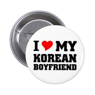 I love my Korean Boyfriend Button