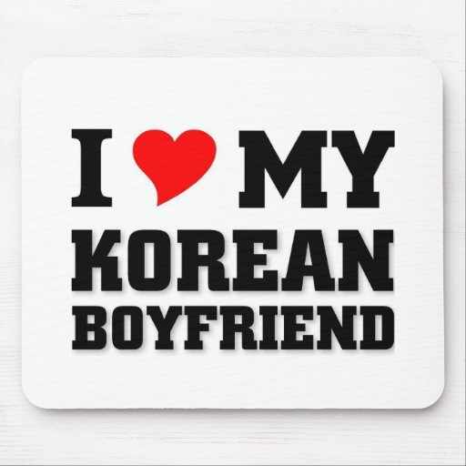 I love my Korean Boyfriend Mousepad