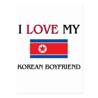 I Love My Korean Boyfriend Postcard
