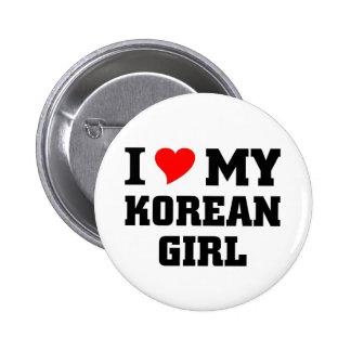 I love my Korean Girl Pins