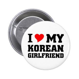 I love my Korean Girlfriend Buttons
