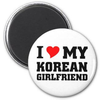 I love my Korean Girlfriend Fridge Magnet
