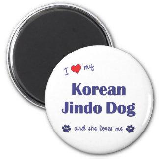 I Love My Korean Jindo Dog (Female Dog) Magnet