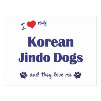 I Love My Korean Jindo Dogs (Multiple Dogs) Postcard