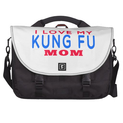 I Love My Kung Fu Mom Laptop Bags