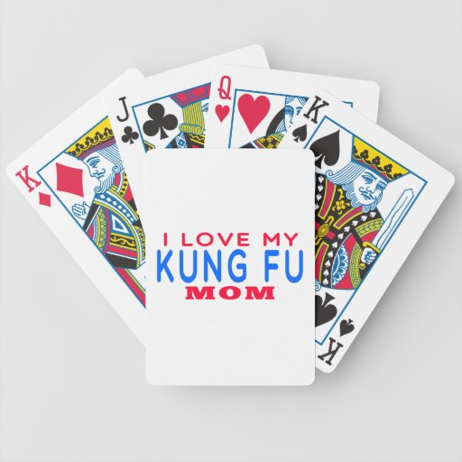 I Love My Kung Fu Mom Deck Of Cards