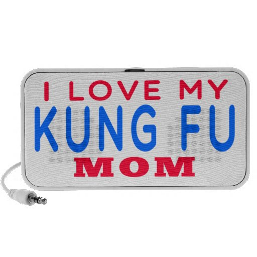 I Love My Kung Fu Mom Notebook Speakers