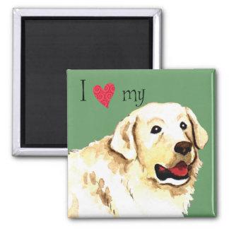 I Love my Kuvasz 2 Inch Square Magnet