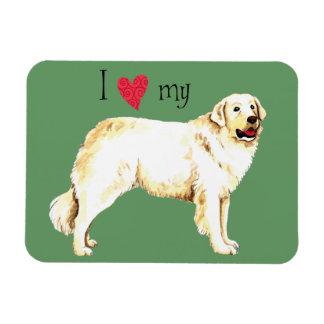 I Love my Kuvasz Rectangular Photo Magnet