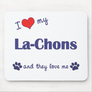 I Love My La-Chons (Multiple Dogs) Mouse Pad