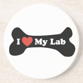 I Love My Lab - Dog Bone Coaster