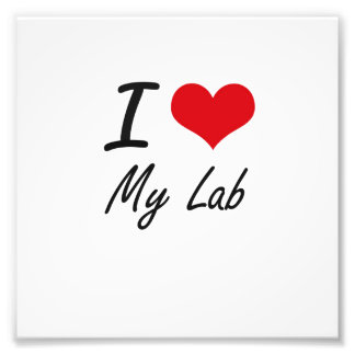 I Love My Lab Photo Print