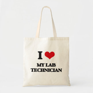 I Love My Lab Technician Budget Tote Bag