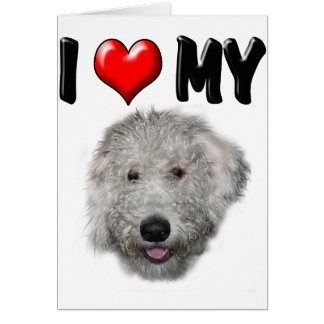 I Love My Labradoodle Card