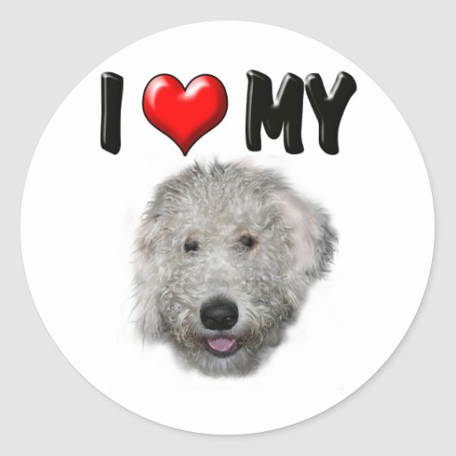 I Love My Labradoodle Sticker