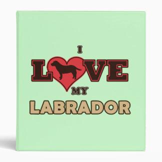 I Love my Labrador 3 Ring Binder