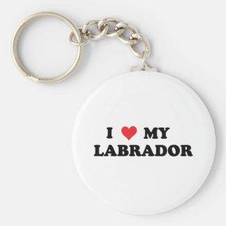 I Love My Labrador Basic Round Button Keychain