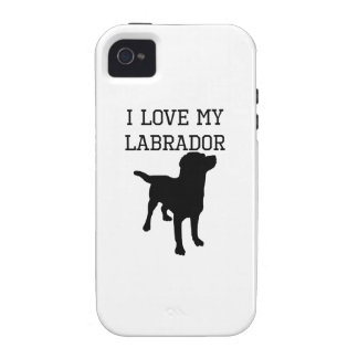 I Love My Labrador Vibe iPhone 4 Cases