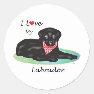 I love my Labrador Classic Round Sticker
