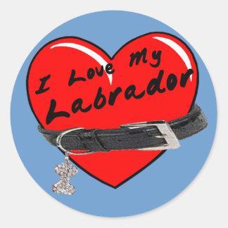 I Love My Labrador Colored Sticker