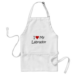I Love My Labrador Dog Breed Lover Gifts Adult Apron