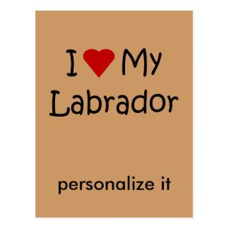 I Love My Labrador Dog Breed Lover Gifts Postcard