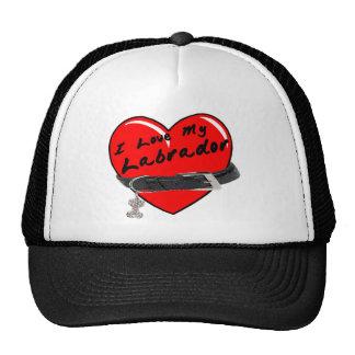 I Love My Labrador Hat