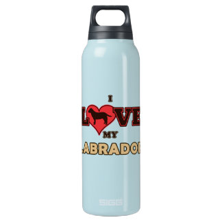 I Love my Labrador Insulated Water Bottle