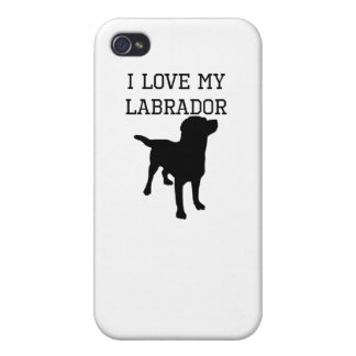 I Love My Labrador iPhone 4 Cover