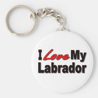 I Love My Labrador Keychain