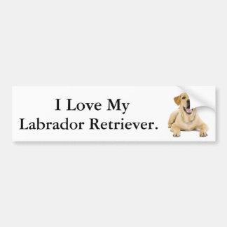 I Love My Labrador Retriever #2 Bumper Sticker